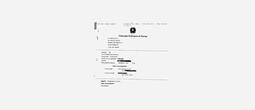 Il Tribunale di Parma obbliga CNP Vita a restituire il premio all'assicurato